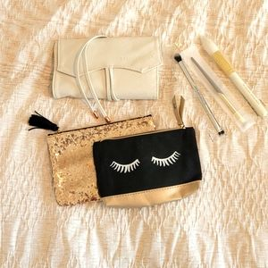 Makeup brushes and bags